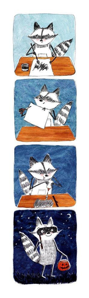 Halloween Raccoon
