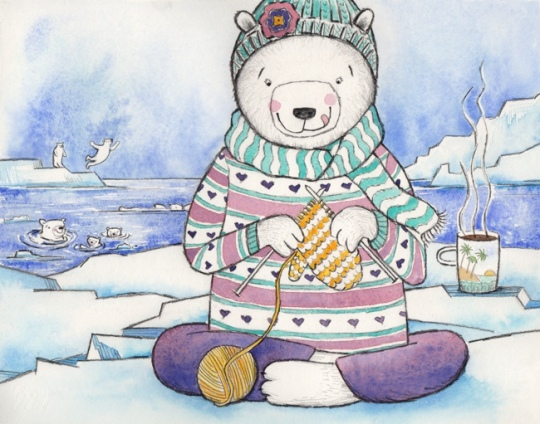 polar bear knitting for web