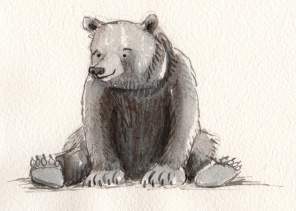 bear sketch 1: happy bear