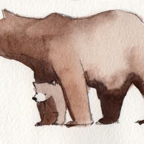 "bear sketch 8: ""don't mess with my kid"" bear"