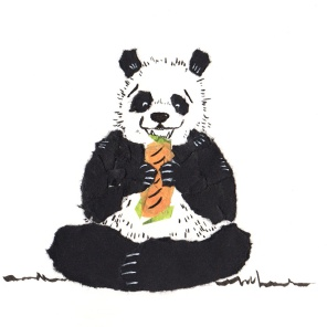 bear sketch 10: bahn mi panda