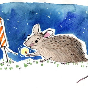 rodent sketch 3: mouse + explosion