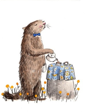 rodent sketch 2: marmot + tea