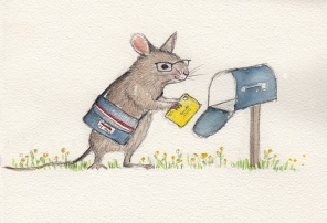 rodent sketch 1: mouse + mail carrier