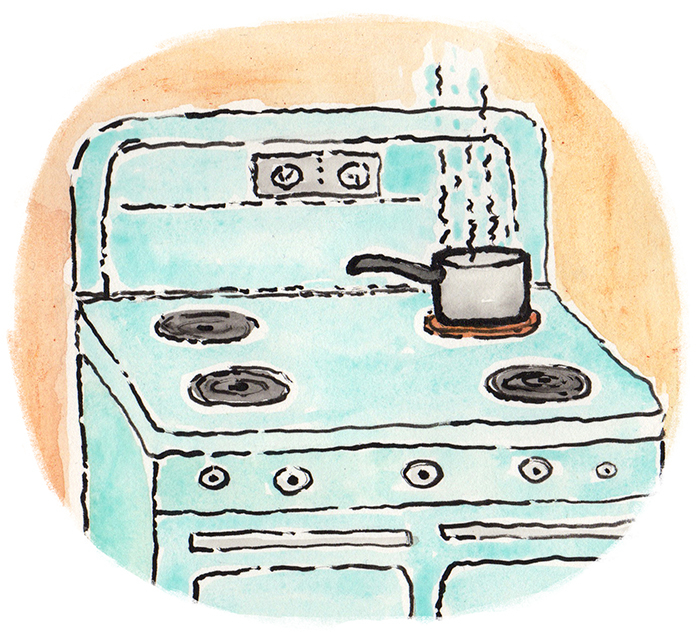 On The Back Burner Sketch Deborah Hocking Illustration