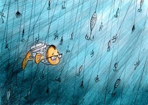 fish story sketch: fish hooks