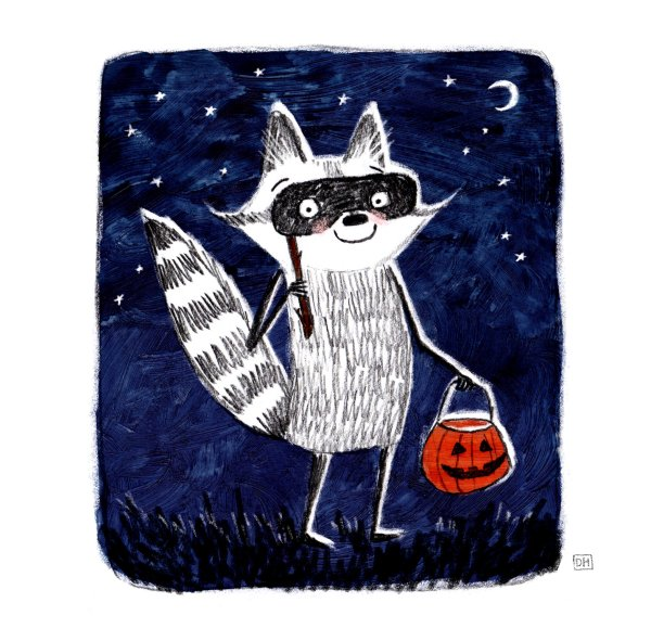 Halloween Raccoon