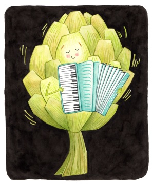 Artichoke Playing Accordion
